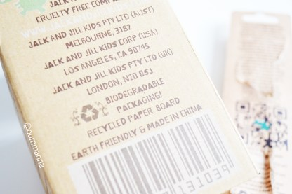 Jack N'Jill eco friendly packaging