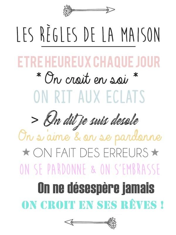 Les Regles De La Maison Version Bienveillante A Imprimer Gratuitement Oummi Materne Le Blog Des Mamans