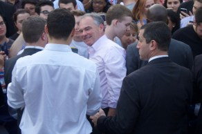 Tim Kaine visits North Carolina Central University to rally for early voting.