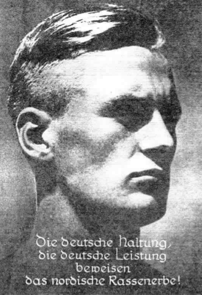 hitler youth haircut - poster