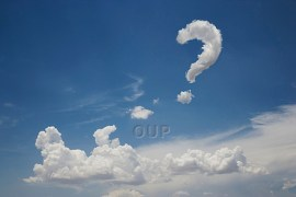 Clouds in the form of a question mark