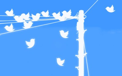 Twitter birds on a wire