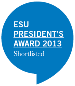ESU President's Award 2013 Shortlisted