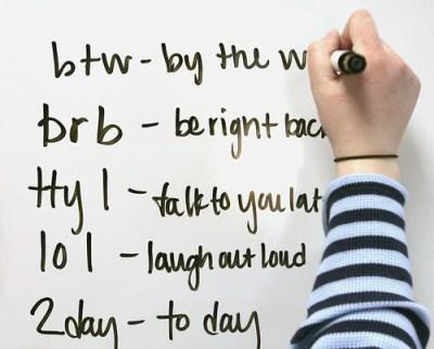 Examples of text speak
