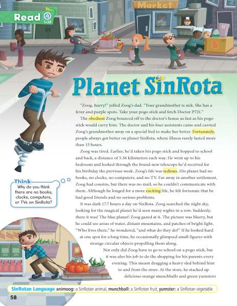 Planet SinRota - page from Oxford Discover 5
