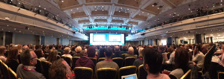 Panoramic view of Signature talk at IATEFL 2018