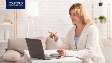 teacher teaching online at home