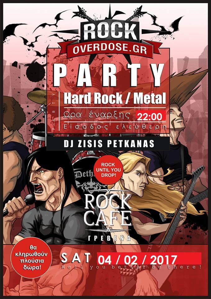 Hard Rock/Metal Party By Rock Overdose το Σάββατο 4 Φεβρουαρίου, στο Rock Cafe στα Γρεβενά