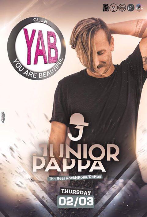 Junior Pappa @ YAB club στην Φλώρινα, την Πέμπτη 2 Μαρτίου