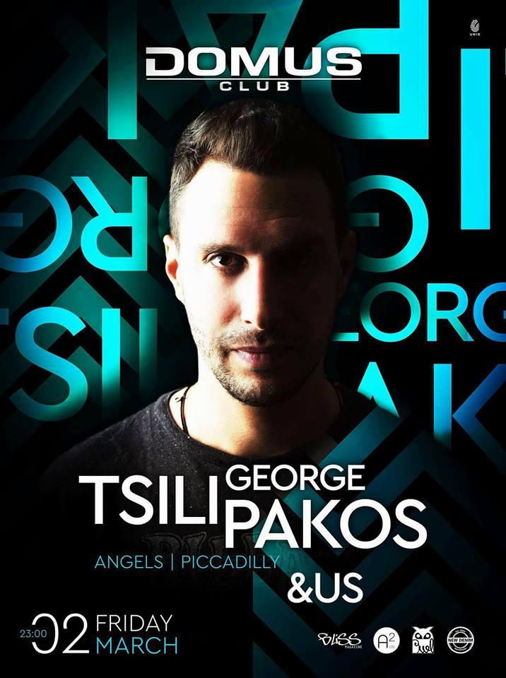 Selected Friday με τον George Tsilipako στο Domus Club στην Καστοριά, την Παρασκευή 2 Μαρτίου