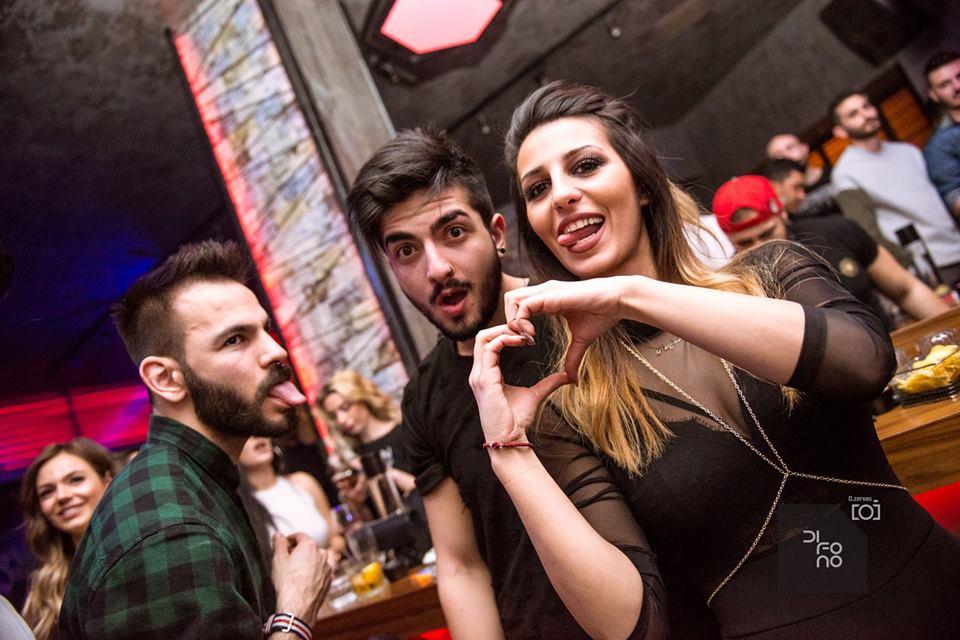 Με τον dj ZA διασκέδασαν το βράδυ, την Κυριακή 18 Μαρτίου, στο Bar Difono στην Πτολεμαΐδα