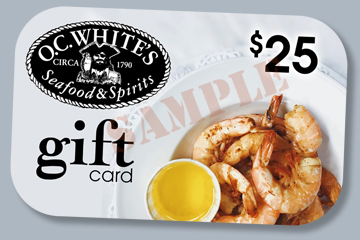 Sample OC White's gift card