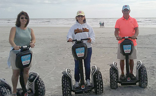 touring on the beach