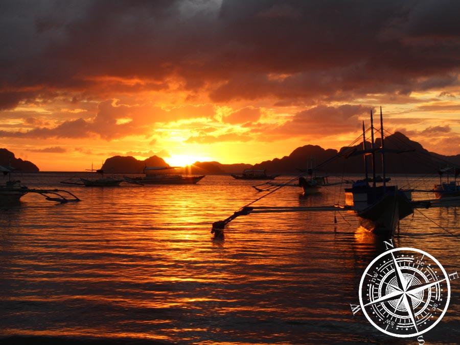 Sonnenuntergang am Corong Corong Beach