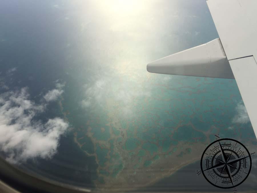 Beeindruckende Korallenriffe von oben