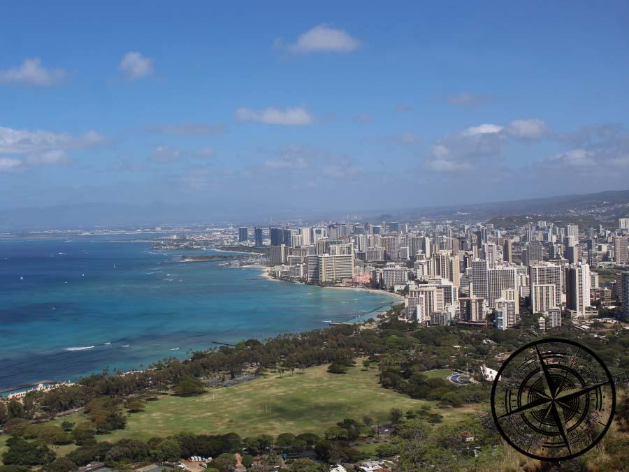 Blick auf Honolulu