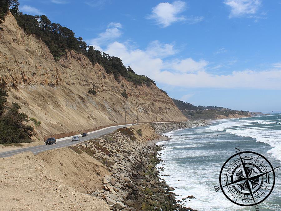 Highway One - direkt am pazifischen Ozean