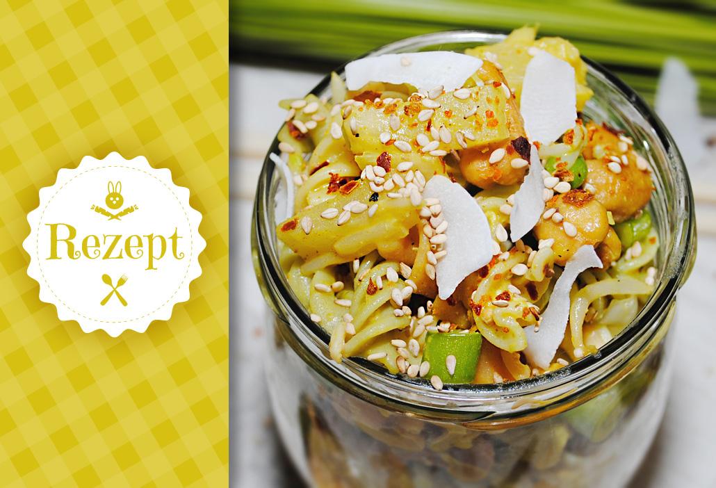 Blitzrezept: Veganer Nudelsalat in 15 Minuten