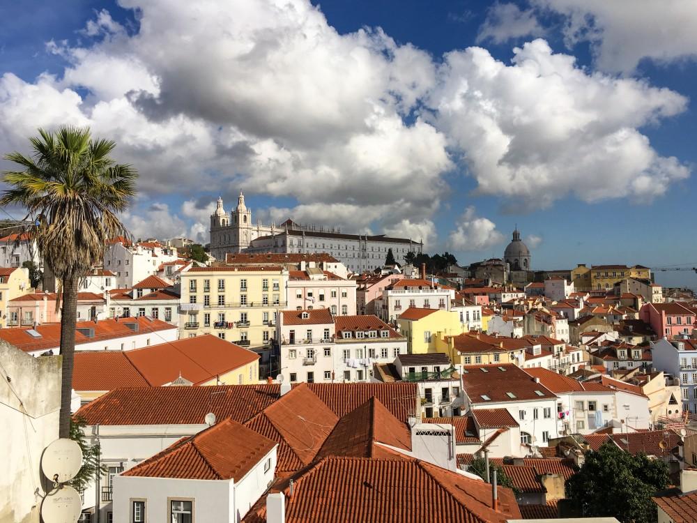 Aussichtsplattform in Lissabon