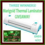 Marigold Thermal Laminator Giveaway {3 Winners}