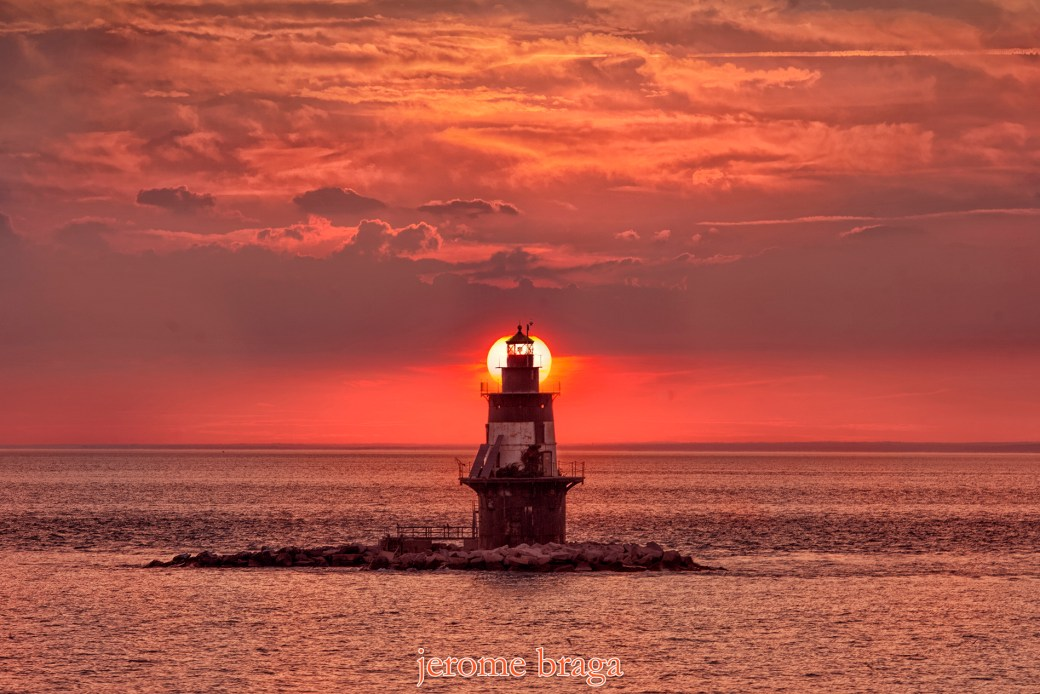 Lighthouse, Orient Point, Sunset