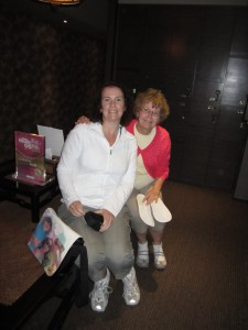 Mum & I at Top Comfort getting ready for our foot massage