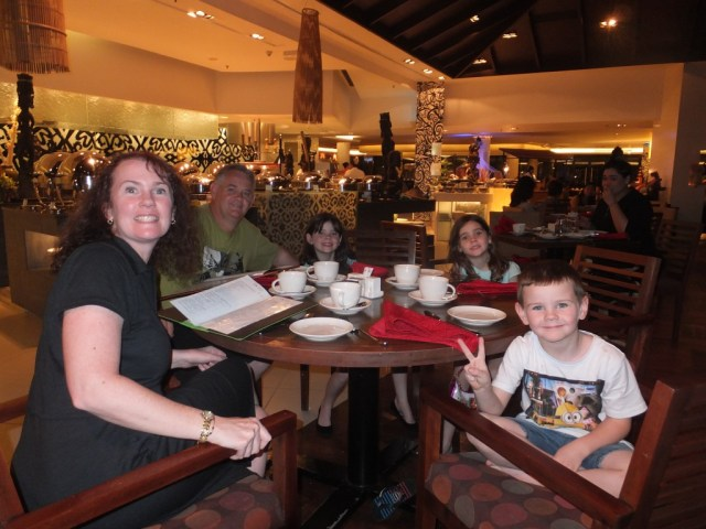 Dinner at the main buffet restaurant on the night we arrived.