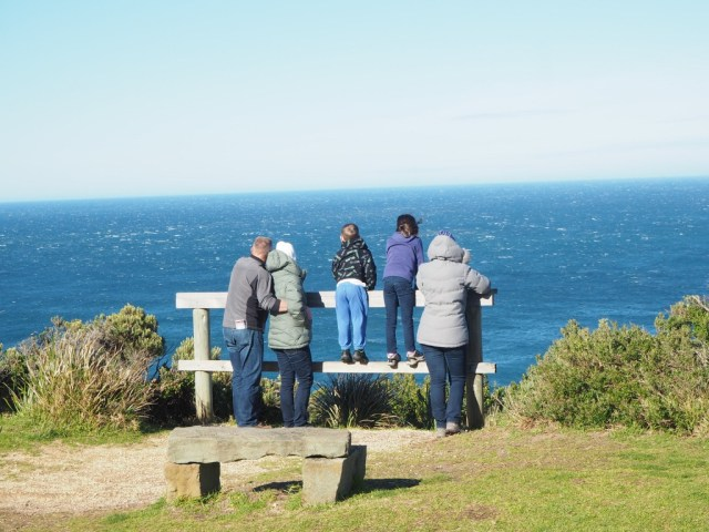 Taking in the Bass Strait view.