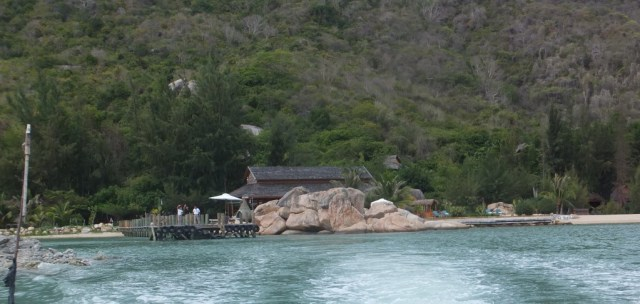 An Lam Resort from the water.