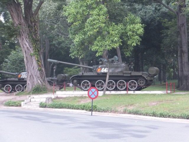 The actual tank used to knock the gate down.
