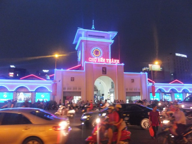 The Ben Thanh Market at night, on the way back to our hotel.