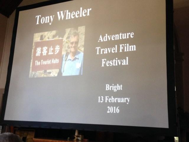 Tony Wheeler presentation