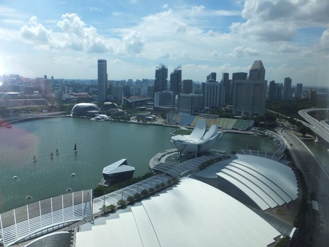 Amazing view from our hotel room, Marina Bay Sands