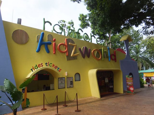 Rainforest Kidzworld at the rear of Singapore Zoo