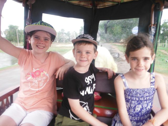 In our tuk-tuk with Sok, the best driver in Siem Reap