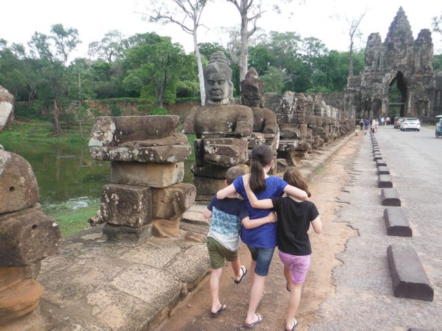 The south entrance of Angkor Thom