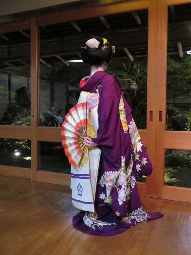 The back of the kimono is nearly as impressive as the front.
