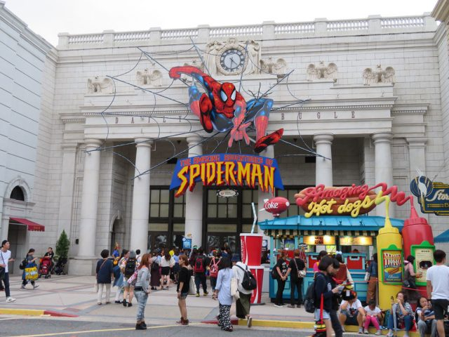 Spiderman ride universal studios japan