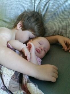 Alec and Lena, sleeping beauties!