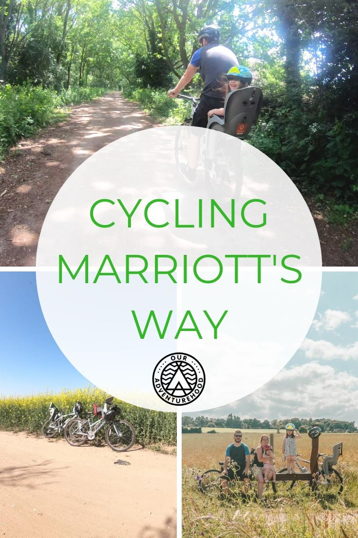 We are big believers in having adventures wherever we are, so with the Sun out we dusted off our bikes and went cycling along Marriott's Way. #cyclingwithkids #familycycling