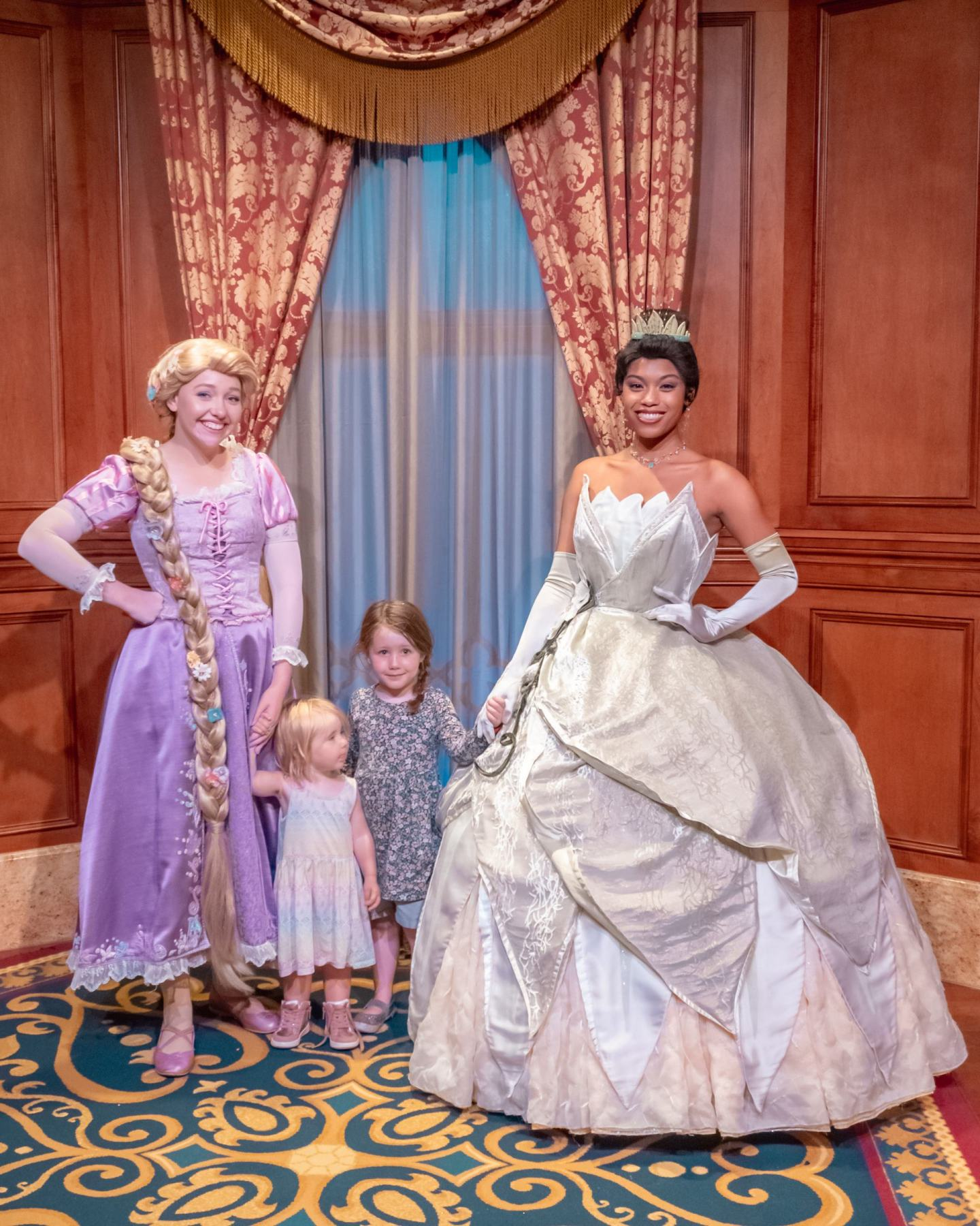 rapunzel tiana walt disney world meet and greet