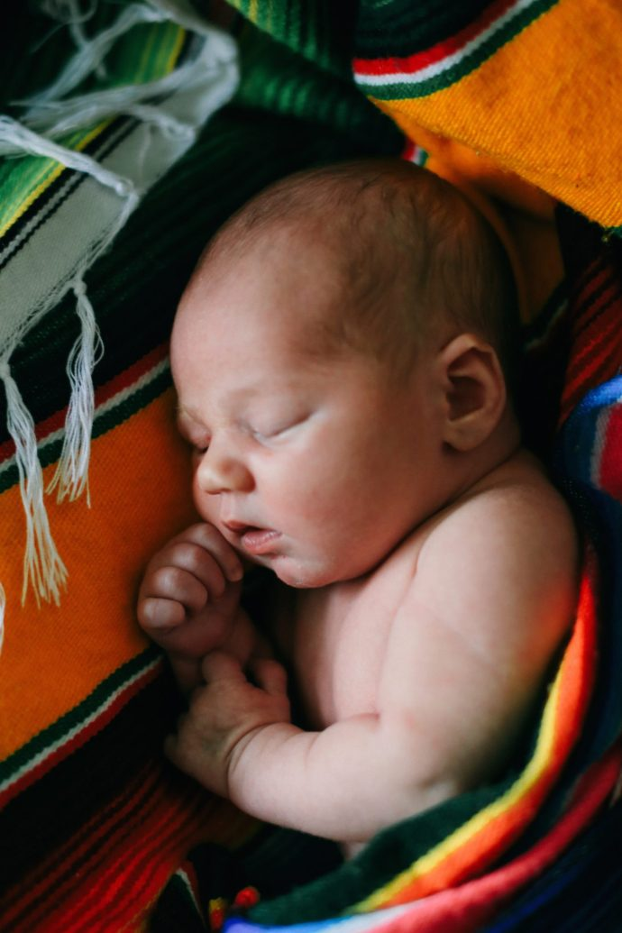 Such an adorable photo of new born Ezra sleeping.