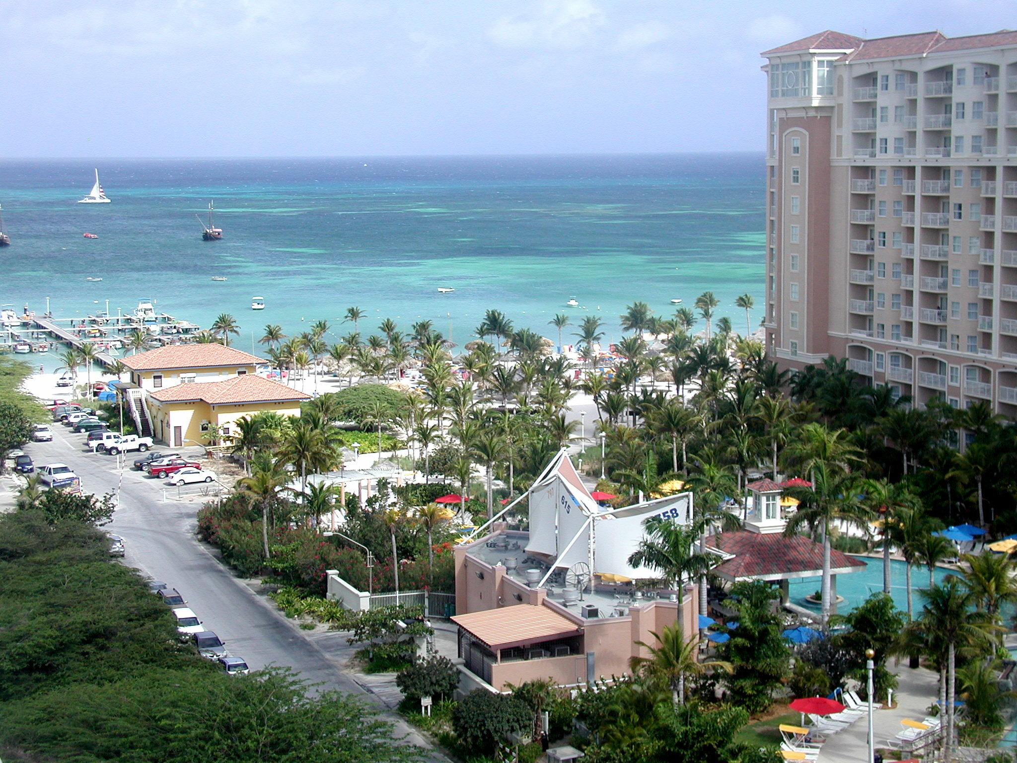 This is a shot from our Villa (balcony) looking (west)into the Caribbean