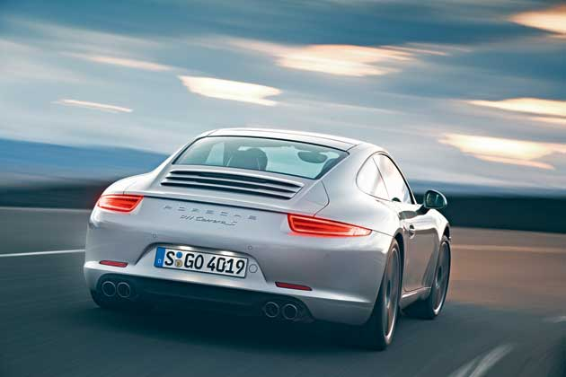 2013 Porsche 911 Carrera rear view