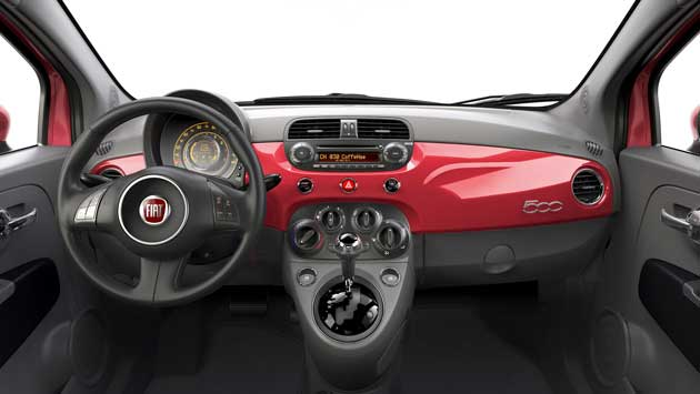 2013 Fiat 500 Turbo dash
