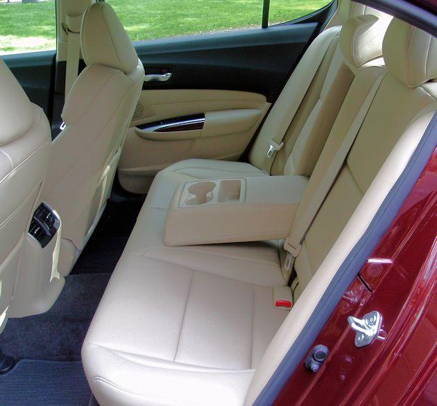 2015 Acura TLX rear seat