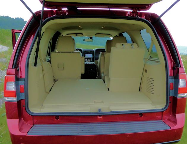 2015 Lincoln Navigator cargo space