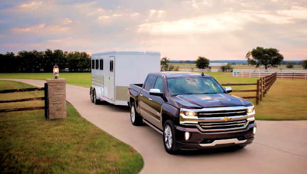 2016 Chevrolet Silverado towing