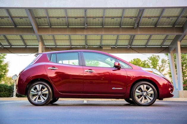 2016 Nissan Leaf side