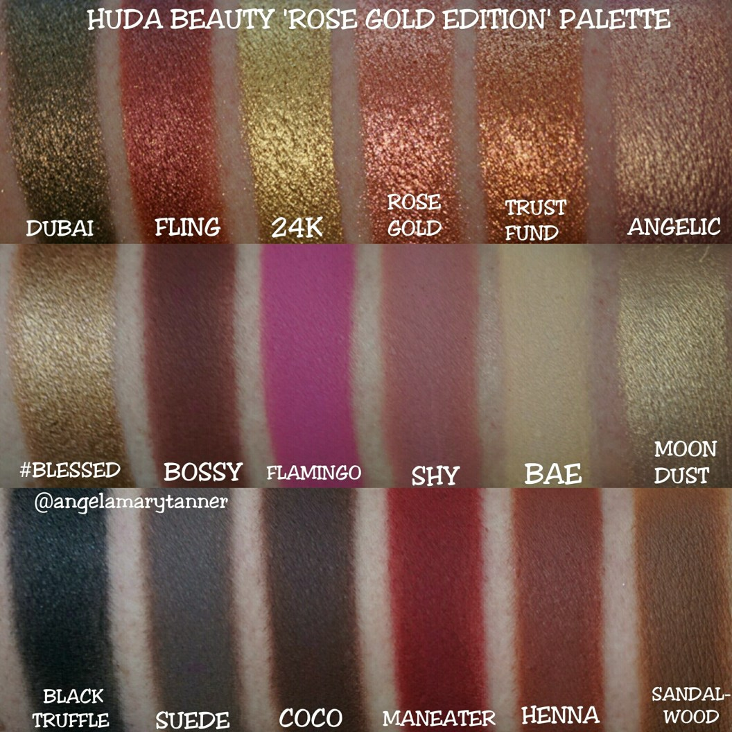 Huda Beauty Textured Shadows Palette Rose Gold Edition Review And